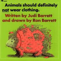 Cover image for Animals should definitely not wear clothing