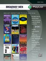 Cover image for Broadway men sheet music : piano vocal.