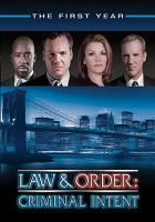 Cover image for Law & order: Criminal intent. Season 01, Complete