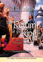 Cover image for The return of the king. bk. 3 book three of the Lord of the Rings : and the annals of the kings and rulers : [an appendix to the Lord of the Rings]
