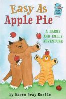 Cover image for Easy as apple pie : a Harry and Emily adventure