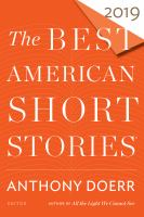 Cover image for The best American short stories 2019 : Best American series series