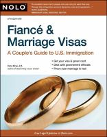 Cover image for Fiancé and marriage visas : a couple's guide to U.S. immigration