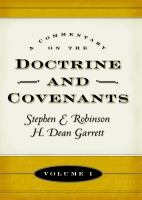 Cover image for A commentary on the Doctrine and Covenants