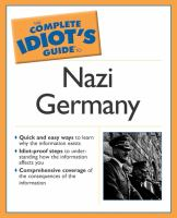 Cover image for The complete idiot's guide to Nazi Germany