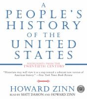 Cover image for A people's history of the United States highlights from the twentieth century