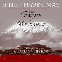 Cover image for The Snows of Kilimanjaro