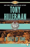 Cover image for A thief of time. bk. 8 : Joe Leaphorn/Jim Chee series