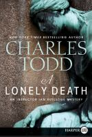 Cover image for A lonely death bk. 13 : Ian Rutledge series