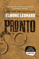 Cover image for Pronto [large print]