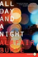 Cover image for All day and a night. bk. 5 [large print] : a novel of suspense : Ellie Hatcher series