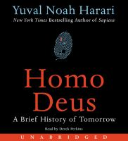 Cover image for Homo Deus [sound recording CD] : A brief history of tomorrow.