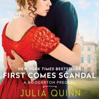 Cover image for First comes scandal Rokesbys series, book 4.