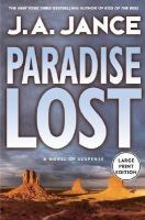 Cover image for Paradise lost. bk. 9 [large print] : Joanna Brady series
