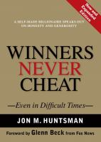 Cover image for Winners never cheat : Everyday values that we learned as children (but may have forgotten)