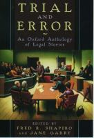 Cover image for Trial and error : an Oxford anthology of legal stories