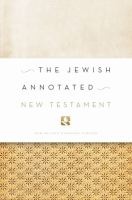 Cover image for The Jewish annotated New Testament : New Revised Standard Version Bible translation