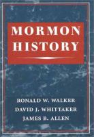 Cover image for Mormon history