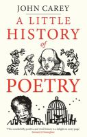 Cover image for A little history of poetry