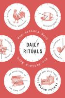 Cover image for Daily rituals : how artists work