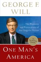 Cover image for One man's America : the pleasures and provocations of our singular nation