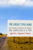 Cover image for The great typo hunt : two friends changing the world, one correction at a time