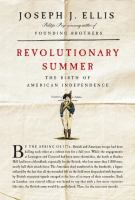 Cover image for Revolutionary summer the birth of American independence