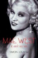 Cover image for Mae West : it ain't no sin