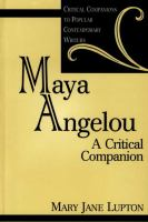 Cover image for Maya Angelou : a critical companion