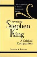 Cover image for Revisiting Stephen King : a critical companion