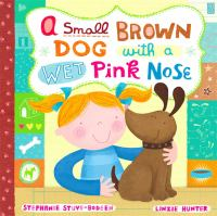 Cover image for A small, brown dog with a wet, pink nose