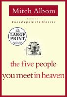 Cover image for The five people you meet in heaven [large print]