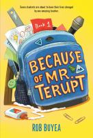Cover image for Because of Mr. Terupt