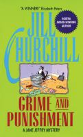 Cover image for Grime and punishment : a Jane Jeffry mystery