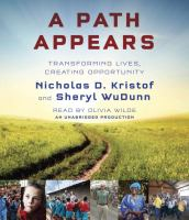 Cover image for A path appears [sound recording CD] : transforming lives, creating opportunity