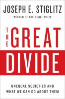 Cover image for The great divide : unequal societies and what we can do about them