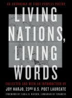 Imagen de portada para Living nations, living words : an anthology of first peoples poetry