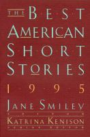 Cover image for The best American short stories, 1995