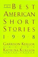 Cover image for The best American short stories, 1998