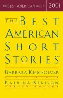 Cover image for The best American short stories, 2001