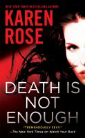 Cover image for Death is not enough : Baltimore series