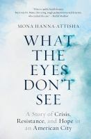 Cover image for What the eyes don't see : a story of crisis, resistance, and hope in an American city