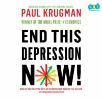 Cover image for End this depression now!