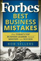 Cover image for Forbes best business mistakes how today's top business leaders turned missteps into success