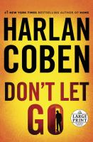 Cover image for Don't let go [large print]