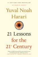 Cover image for 21 lessons for the 21st century