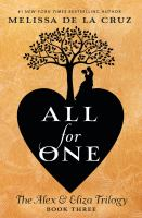Cover image for All for one. bk. 3 : Alex & Eliza trilogy series
