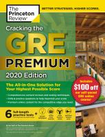 Cover image for Cracking the GRE premium 2020 edition : the all-in-one solution for your highest possible score
