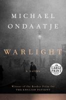 Cover image for Warlight a novel