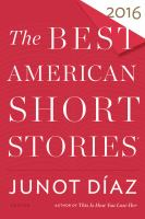Cover image for The best American short stories 2016
